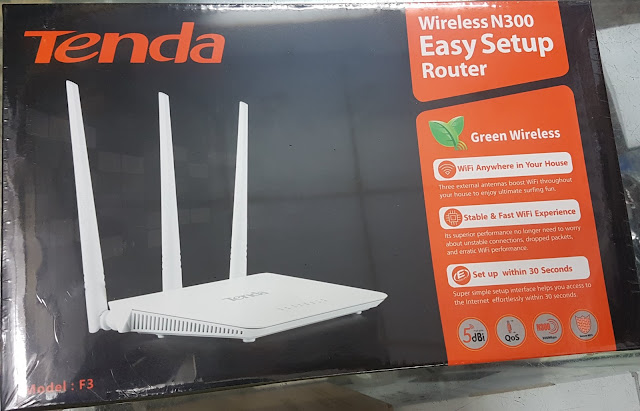 TENDA F3 WIFI ROUTER 3 ANTENNAS