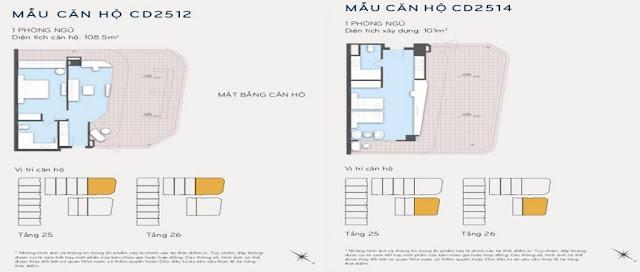 Thiết kế căn hộ 108m2 và 101m2 Eastin Phát Linh