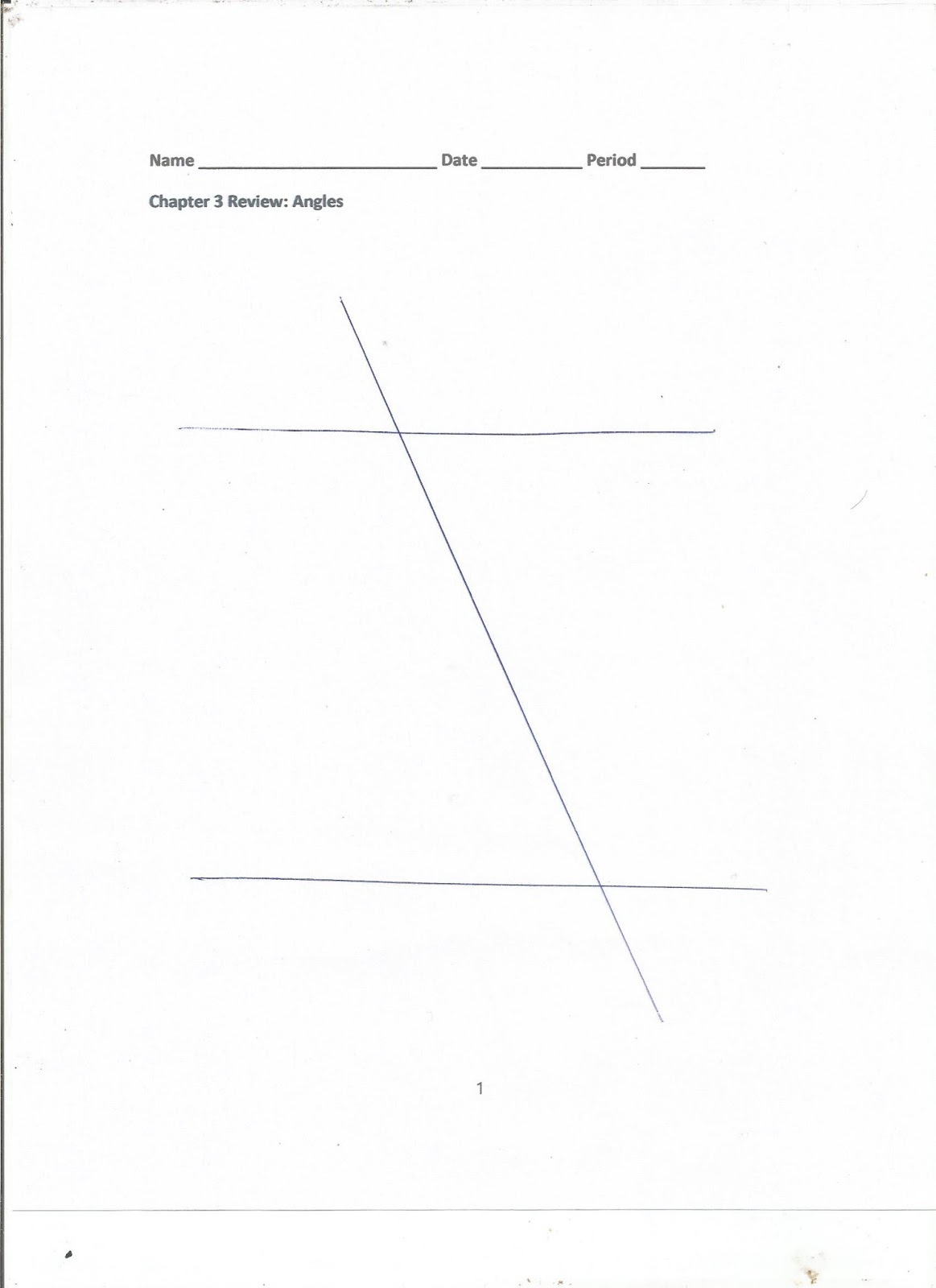Geometry Common Core Style Chapter 3 Review Day 37