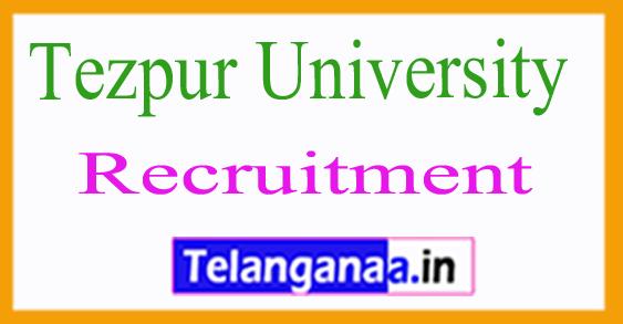 Tezpur University Recruitment Notification 2017