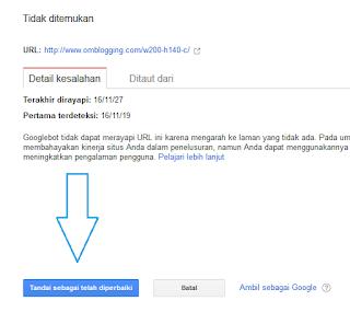 Cara menghapus link error yang dicrawl google