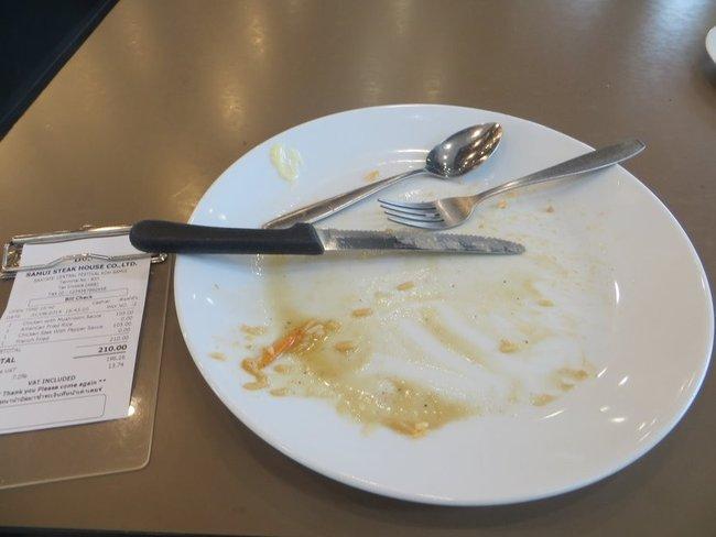 пустая тарелка после еды