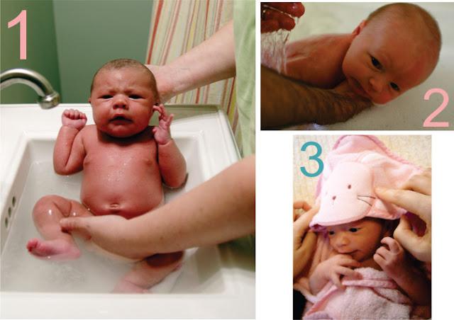 Banho em recem nascido