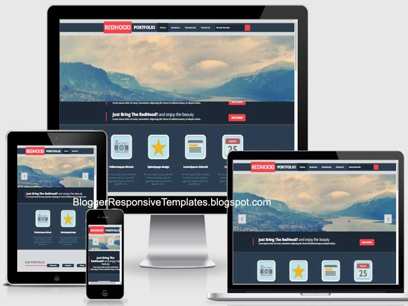 Downloads Red Hood Portfolio Responsive Blogger Template