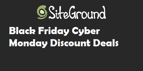 Siteground Black Friday Discount Deals