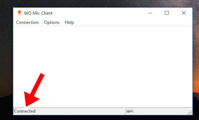Pengaturan WO MIC menggunakan WI-FI