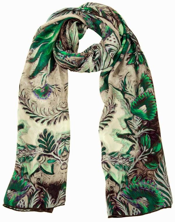 roberto cavalli, accessories, scarfs, winter collection 2014, fashion scarfs, design scarfs, printed scarfs,