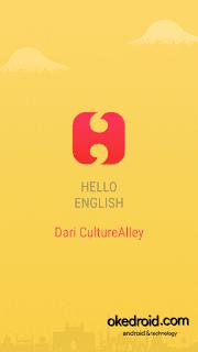 SplashScreen dari Aplikasi Hello English