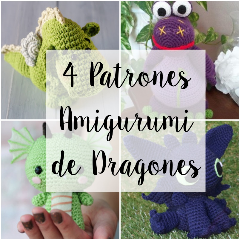 Pa Monísima: Yo: Los 4 patrones de dragón amigurumi que más me gustan