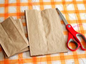 artsy paper bag stars - a great way to showcase children's artwork!