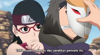 Sarada uchiha anaknya sasuke uchiha - boruto episode 43 subtitle sub indo
