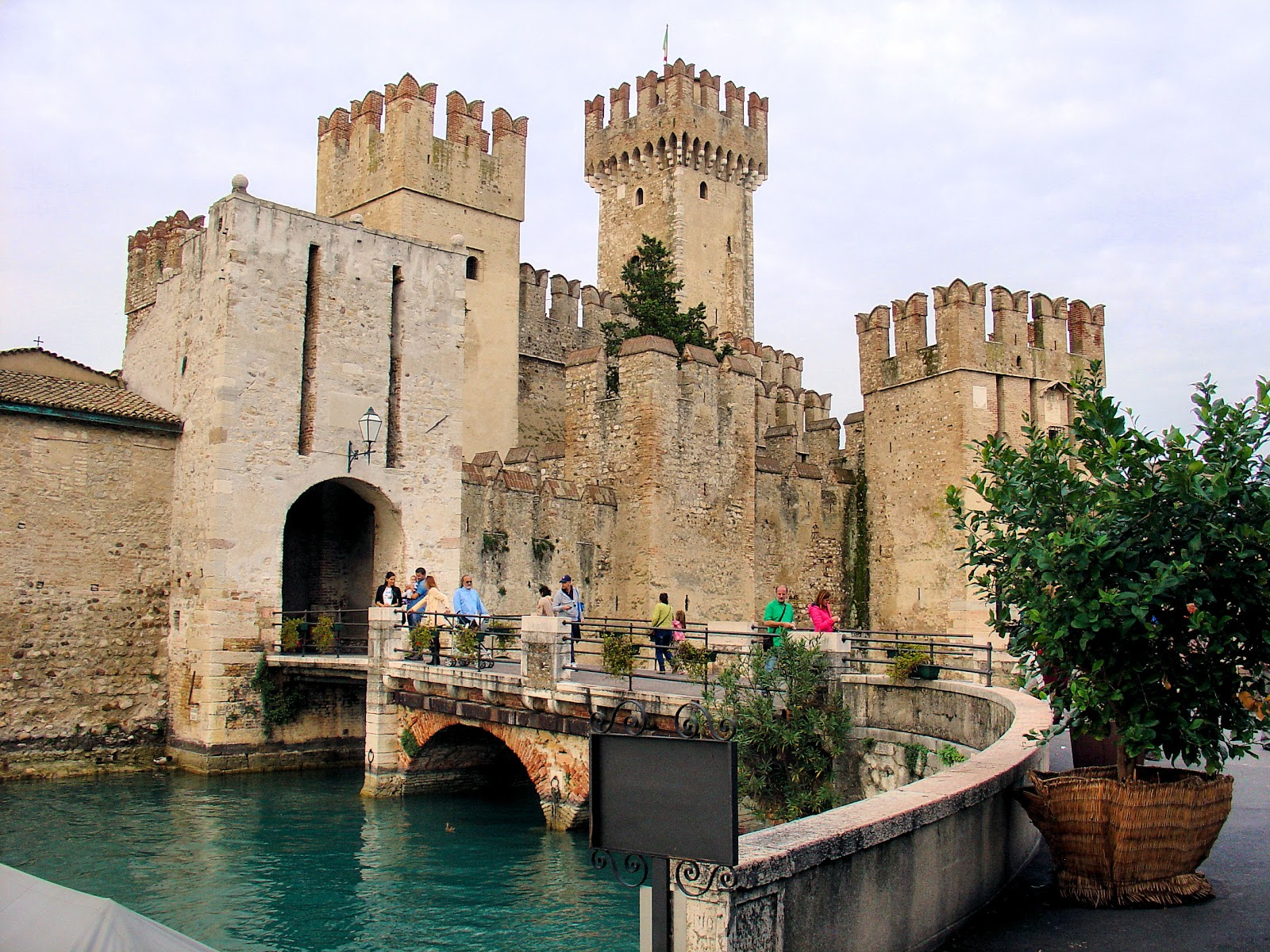 Travel back in time to the 13th-century fortress—Castello Scaligera or Scaligera Castle originally built for the della Scala family (Scaligeri) of Verona.