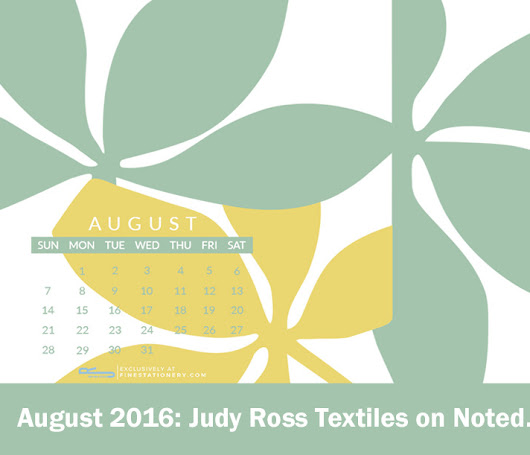 August Wallpaper Download from Judy Ross Textiles!