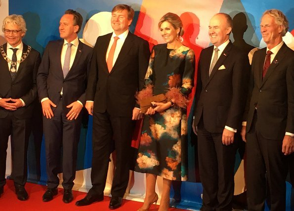 Queen Maxima wore a Natan branded dress again which is her favorite brand at opening events of Leeuwarden-Friesland European Capital of Culture 2018