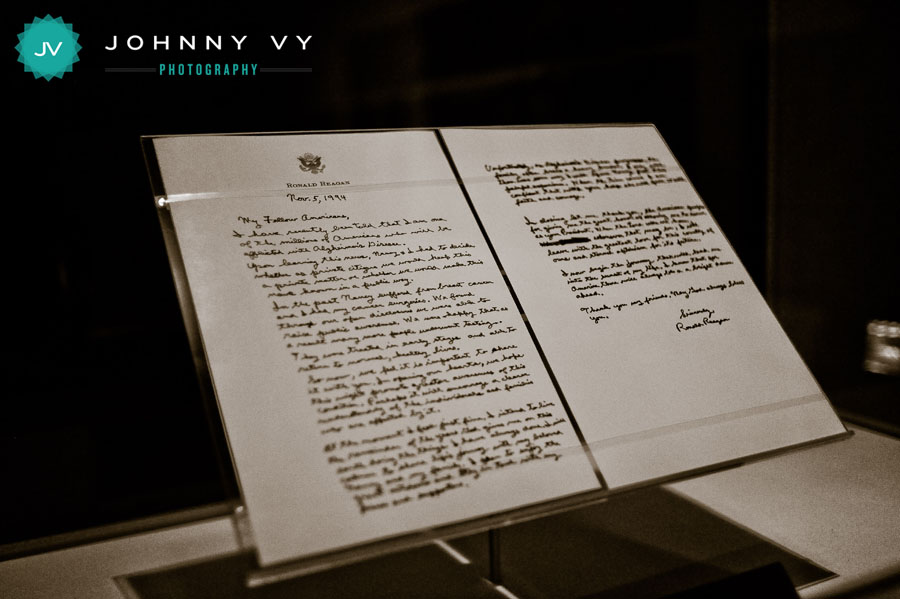 ronald reagan alzheimer s letter johnny vy photography ronald presidential 24524