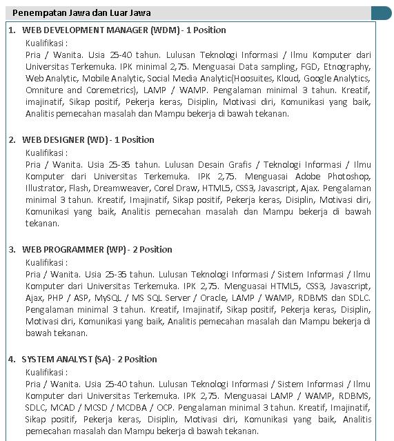 5 Lowongan Kerja Indomaret ( PT Indomarco Prismatama ) Terbaru 2019