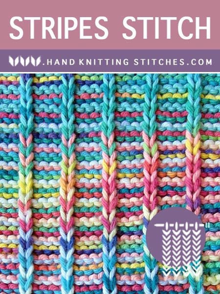 The Art of Slip Stitch Knitting - Stripes Slip Stitch Pattern.