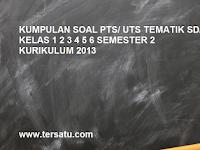 Kumpulan Soal UTS Genap Tematik Kelas 1 2 3 4 5 6 Semester 2 Th. 2018