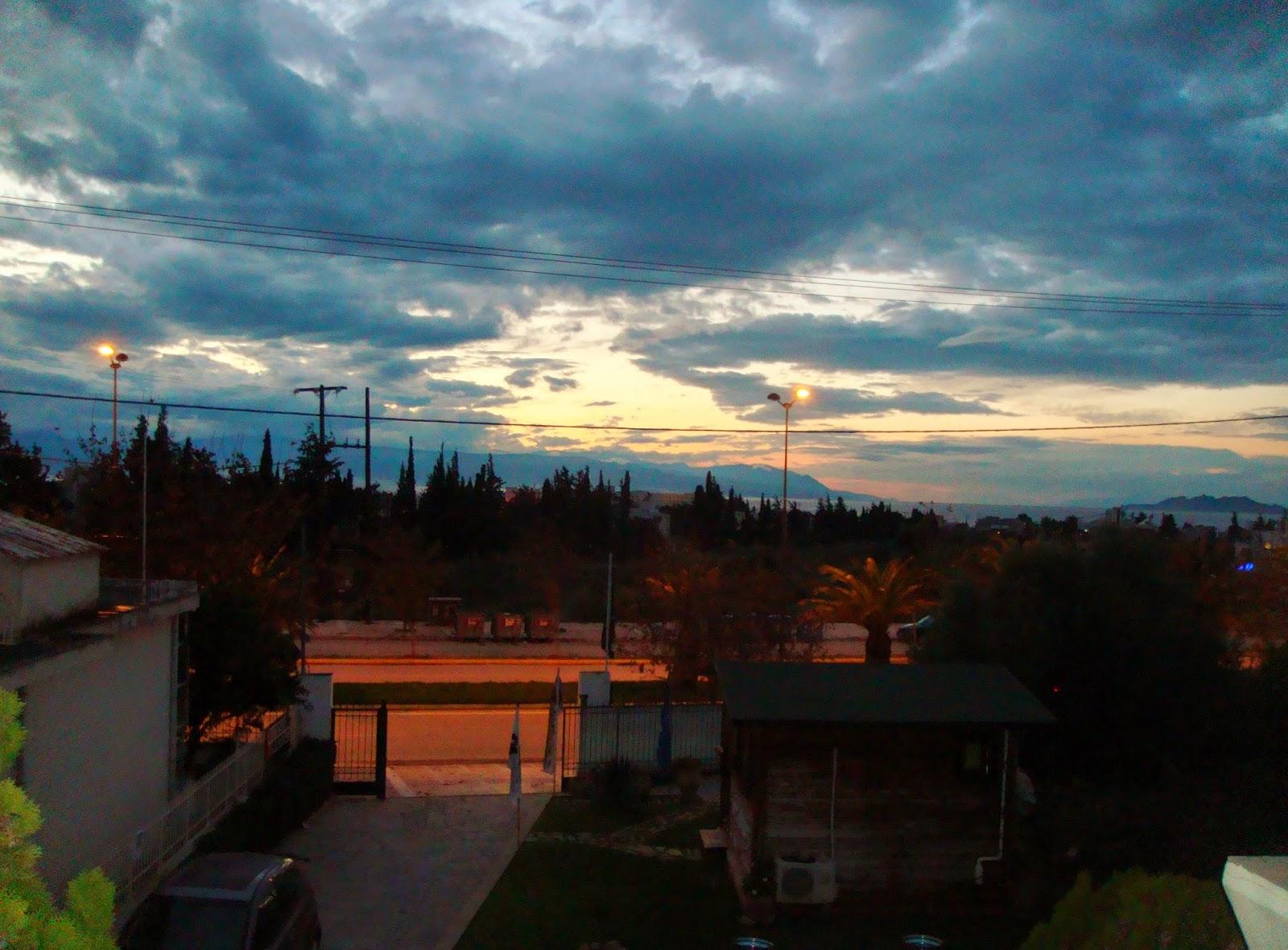 Sunset over Loutraki