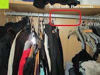 oben Platz: IPOW- 8 Set platzsparende Kleiderbügelhalter Schrankbügel Kleiderbügel kleiderstange Mehrfachkleiderbügelhalter