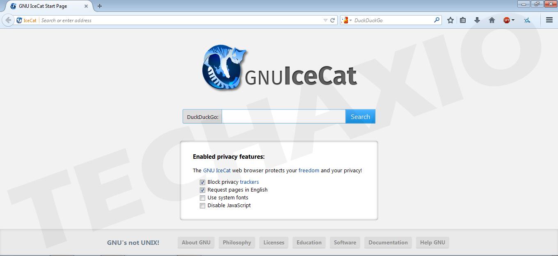 Icecat Browser Screenshot