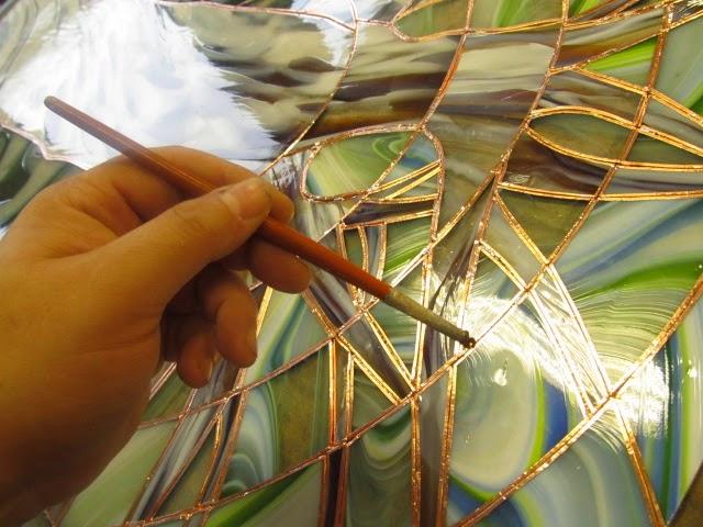 postup práce vitráž