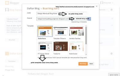 Cara Buat Blog Gratis di Blogger