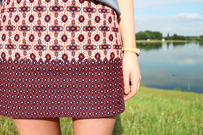 Topshop Tile Print Skirt