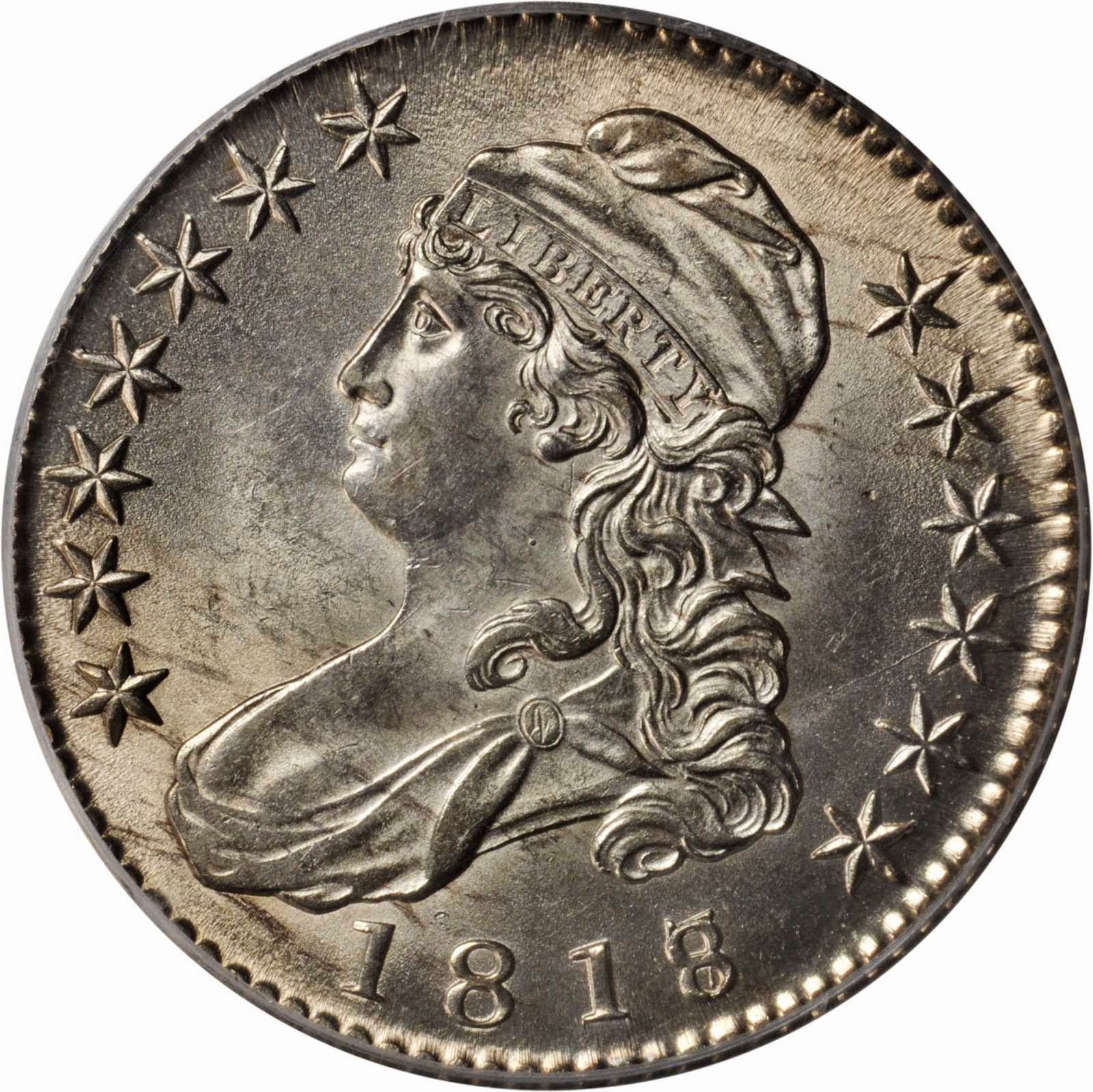 US Coins 1818/7 Capped Bust Half Dollar
