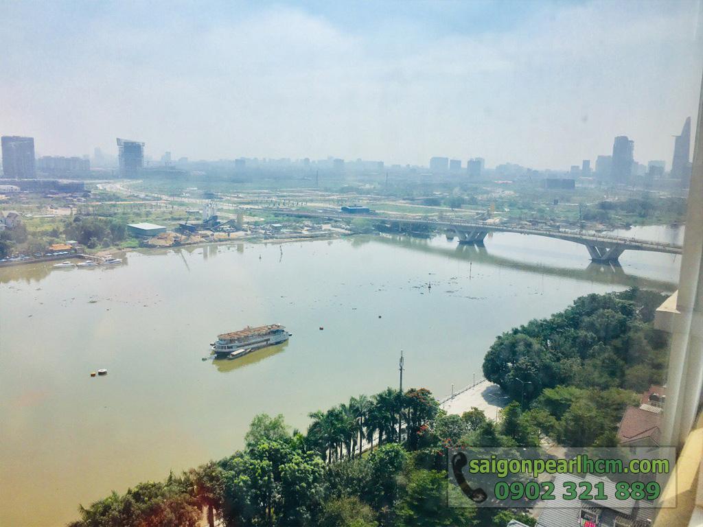 Cho thuê Saigon Pearl căn hộ 4 phòng ngủ 206m2 Ruby 1 view sông Sài Gòn - hình 4