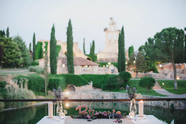 boda rural wedding segovia corona flores