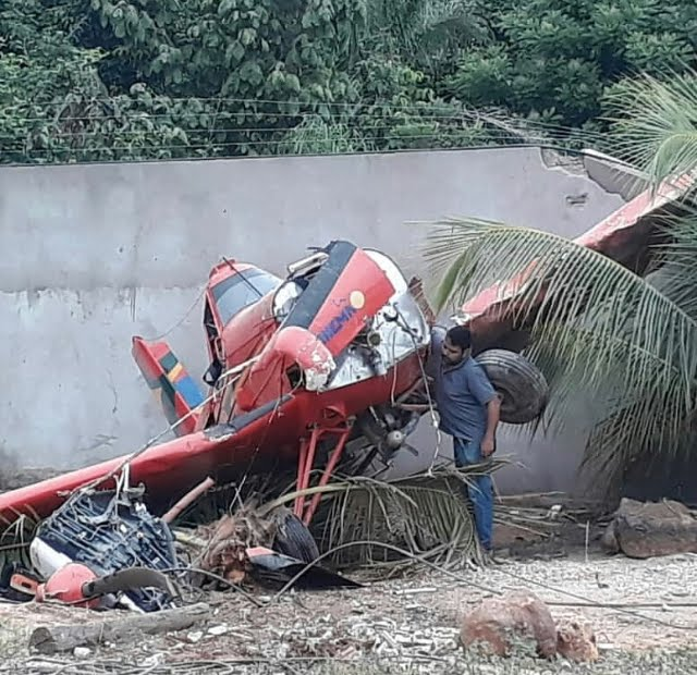 Avião cai em quintal de residência no interior do MA