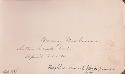 Mary Nickerson autograph