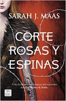 Portada España - Una corte de rosas y espinas