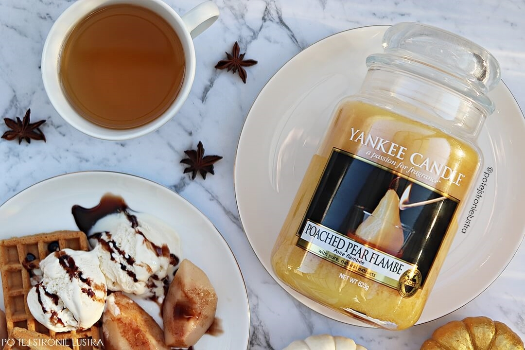 yankee candle poached pear flambe recenzja blog