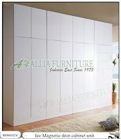 Lemari minimalis full plafon unit cabinet Ice