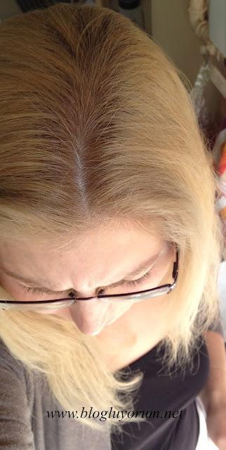 saçı açmadan Palette Deluxe 10-2 Platin Sarı boyama sonuç