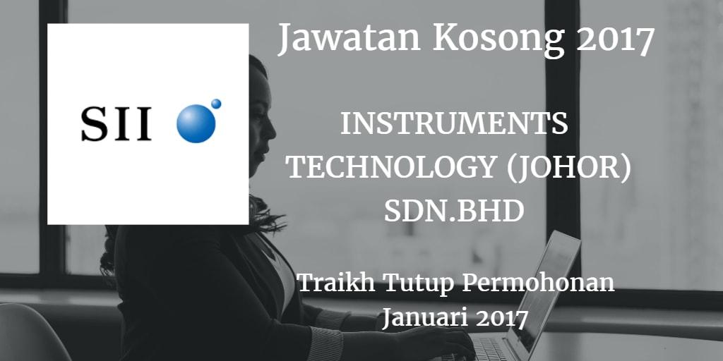 Jawatan Kosong INSTRUMENTS TECHNOLOGY (JOHOR)SDN.BHD 01 Januari 2017