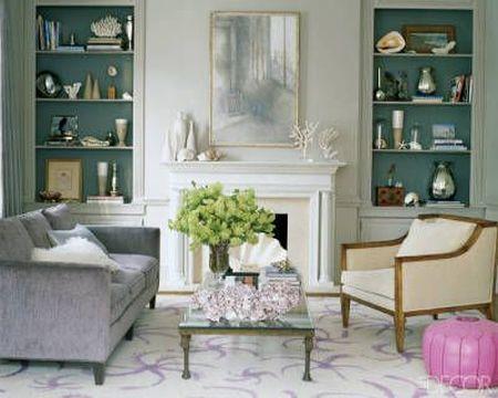 classic and elegant soft green living room