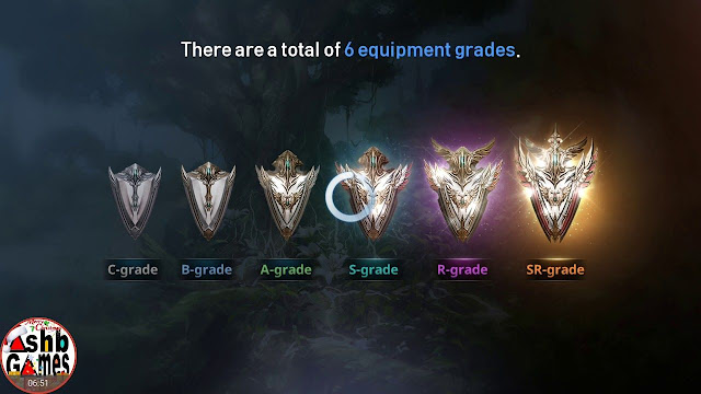 Equipment Grade di Lineage 2 Revolution