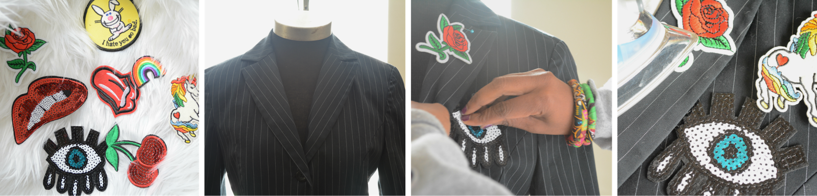 makeover a jacket with patches
