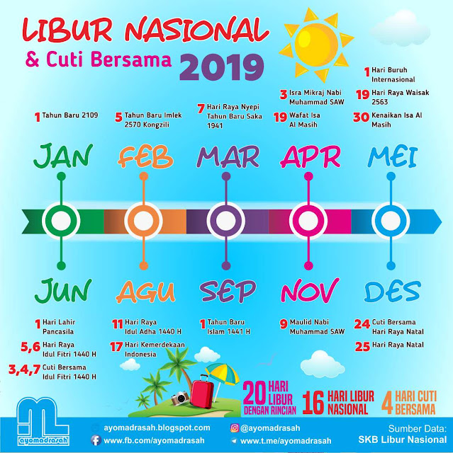 Hari Libur Nasional dan Cuti Bersama Tahun 2019