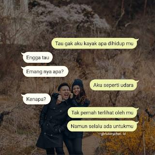 Contoh spam chat romantis