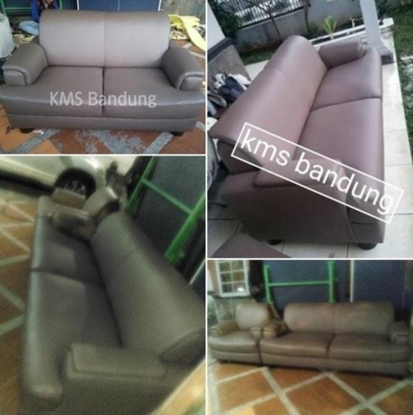 hasil akhir perbaikan sofa