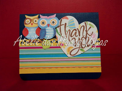 scrap card cartao scrapbook thank you