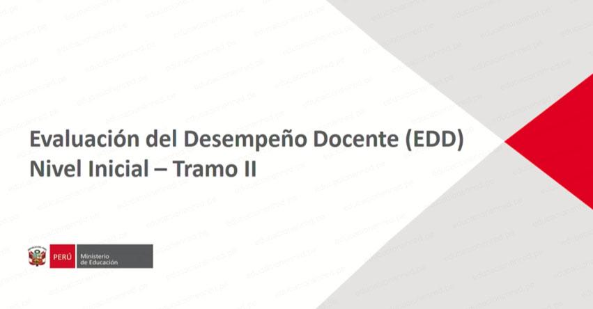 VIDEO: Evaluación del Desempeño Docente del Nivel Inicial (tramo II) MINEDU - www.minedu.gob.pe