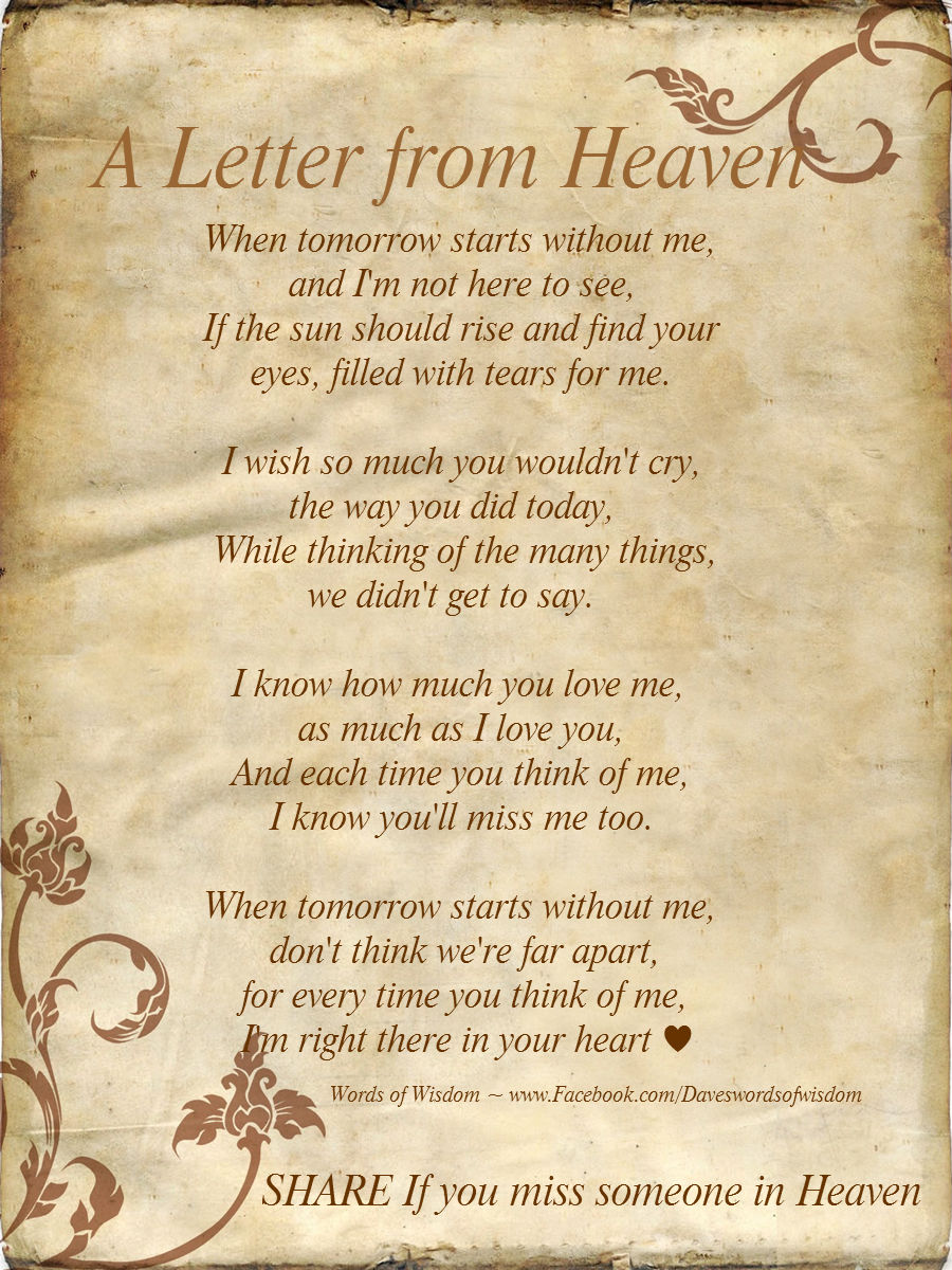 Poems Loved About Ones Heaven