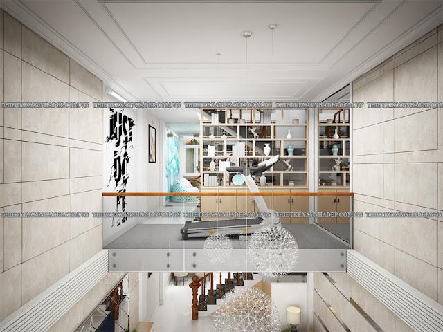 Mẫu thiết kế nhà 2 tầng 1 tum 5x12 bán cổ điển ở nông thôn Tang-1