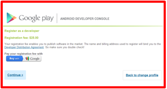 Create Google Play Store Account