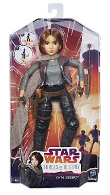 STAR WARS Forces of Destiny - Jyn Erso | Figura - Muñeco | Hasbro 2017 | Serie Web Youtube Disney | CAJA JUGUETE